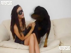 Dog fucking with hot teen - Zoo sex porn